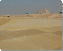 THE TOURISTIC PARKING AND ROADS Around THE PYRAMIDS Image